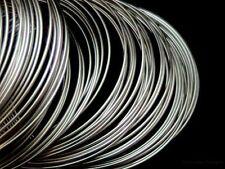 200 Pcs Silver Tone Memory Wire Loops  80mm - 85mm diameter Thicnkess 0.6mm K21