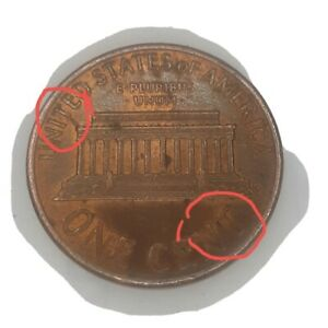 1992 lincoln memorial cent Reverse die crack and strike through a great coin !!!