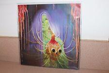 "Flaming Lips Bag full thoughts green vinyl LP +7"" blue vinyl Theme Song Autograp"