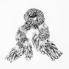 Noir & Blanc Imprimé léopard Crinkle écharpe Châle Wrap Echarpes Pashmina Vendeur Britannique