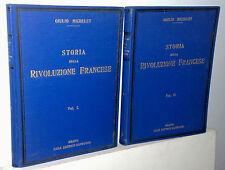 Giulio Michelet storia della Rivoluzione Francese Sonzogno 2 vol. anni 30