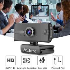2K FHD USB Webcam Full HD Web Camera With Microphone For PC MAC Desktop Laptops