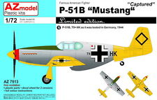 "AZ Models 1/72 North-American P-51B Mustang ""Captured Planes"" LE # 7513"