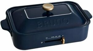 Bruno Compact Hot Plate Body Plate 2 Types Takoyaki Plane Navy Recommended