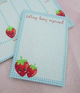 Cute Strawberry A6 Note Pad