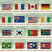 Nation Flag Emblem Embroidered Trim Applique National Country Sew/Iron on Patch1