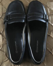 Ladies ROCKPORT Black Leather Loafers Size 7M
