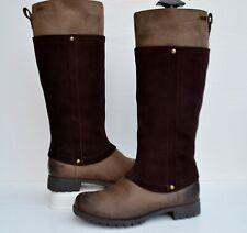 CLARKS NEEVE ELLA GTX BROWN COMBI LEATHER WATERPROOF COUNTRY KNEE HIGH BOOTS UK4