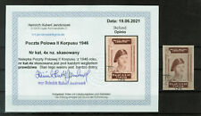 More details for  poland - 1945-46 polish corps in italy - imperforated, very rare as used #5256