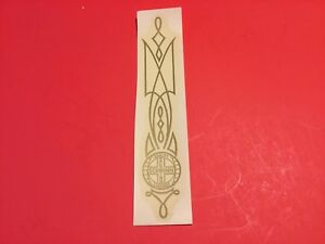 Authentic NOS  Schwinn seat tube decal Gold 6.5inch