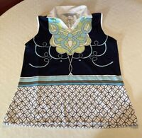 Tehama women's short sleeve collared top size L Hang em dry