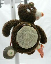Ebulobo ours livre marionnette fourrure tissu marron 27 cm environ