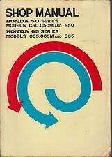 HONDA C50 C50M S50 C65 C65M S65 ORIGINAL 1966 FACTORY WORKSHOP MANUAL