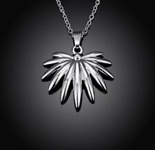 Women's Fashion Jewelry 925 Silver Plated Flower Pendant Necklace Chain 45-4