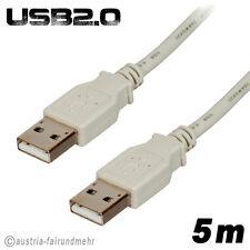 """""""USB2.0 Anschlusskabel A-Stecker/A-Stecker grau 5 m"""