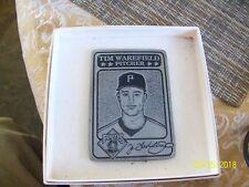 12#B2   Pittsburgh Pirates 1993 Tim Wakefield Pitcher Pewter Baseball Card