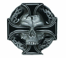 Skull & Cross Belt Buckle with Presentation Box