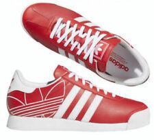 Nuevo adidas Originals Samoa Hombre Rojo Blanco Clásico Zapatillas Todo Tallas