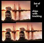Avanti  greeting card- Boat On Belle Isle -Friendship-America Collection- 3 SET photo