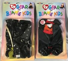 Ty Gear For Beanie Kids ~ Halloween Costumes Set of 2 ~ The Count & Witch ~ NEW
