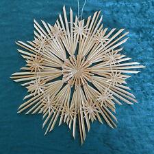 Strohstern mit weißem Faden ca. 27 cm, Weihnachtsstern, Stroh Sterne 101-94