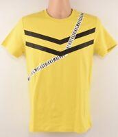 BIKKEMBERGS Men's Yellow Crew Neck T-shirt, size XS