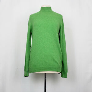 Vintage 80/'s Lambswool and Angora Forest Green Wool Pullover Dress