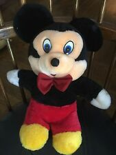 Young Mickey Mouse Stuffed Animal From 1990's Excellent Condition