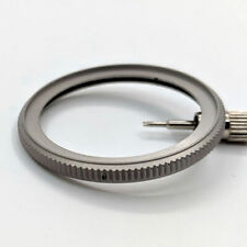 MATTE STAINLESS STEEL (COIN EDGE) BEZEL FOR SEIKO SKX007, SKX009, SKX011, etc.