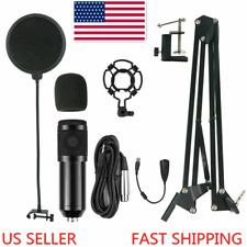 Condenser Microphone Kit Studio Audio Recording Arm Stand Shock Mount Pop Filter