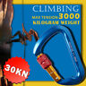 30KN Heavy Duty D-Shape Aluminum Alloy Rock Climbing Hiking Screw Lock Carabiner
