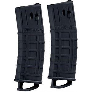 TIPPMANN TMC 20 68 CAL BALL PAINTBALL GUN MAGAZINES 2 PACK - BLACK - NEW