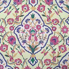 "23"" REMNANT ~ Free Spirit Iznik Tabriz Amethyst ~ Jacobean Floral Cotton Fabric"