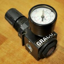 Graco 110341 D06 Air Regulator w/Pressure Guage 0- 125 PSI Range - USED
