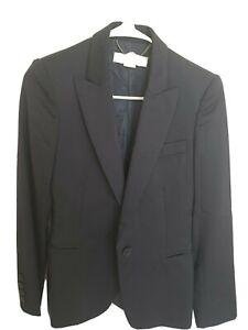 STELLA MCCARTNEY Wool Blazer One Button Structured Navy size IT 36 US 2 xs