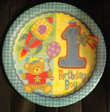 Boys 1st Birthday Hugs and Stitches 8 Large Plates Birthday Party Supply Favor