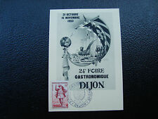 FRANCE - carte 31/10/1953 24eme foire gastronomique dijon (cy12) french