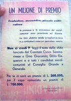 1950 VOLANTINO DI SAN MARINO ANTICOMUNISTA CURIOSO