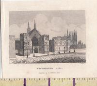 C1840 Vittoriano Stampa ~Londra~ Westminster Hall