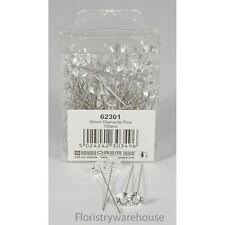 10mm Acrílico Cabeza Diamante Diamante Alfileres Por Oasis (x100)