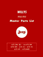 Willys Jeep Jeepster SW OTHER Mechanic Parts Manuals CD