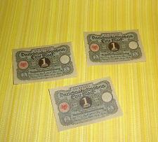 3 x Kassenschein 1922 Eine MARK 1M Dahrlehenschein Papiergeld papermoney german