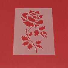MF84 Schablone Wandschablone Rose Blume Blätter Floral