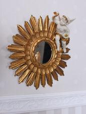 Baroque mirror angel figure vintage wall mirror gold sun mirror cupid sculpture