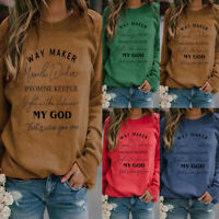 Women Sweatshirt Ladies Pullover Jumper T Shirt Tops Blouses Plus Size Way Maker