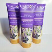 Calgon Body Cream French Lavender Vanilla Shea Butter Aloe 8oz Lot of 3 lotion
