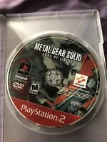 Metal Gear Solid 2 Sons Of Liberty Sony PS2 DISC ONLY (Konami, 2001)