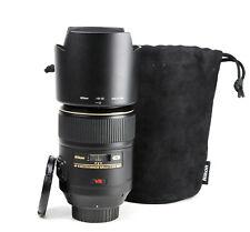 Nikon AF-S 105mm f2.8 VR Micro Primo G > messa a fuoco manuale solo < Lens + TAPPI & Cappuccio