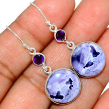 Tiffany Stone, Utah - USA & Amethyst 925 Sterling Silver Earrings Jewelry BE18