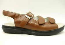 Propet Brown Leather Adjustable Strap Casual Comfort Sandals Shoes Womens 9.5 W